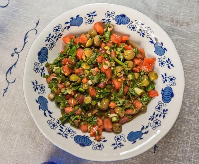 Turkish Recipes > Green Olive Salad