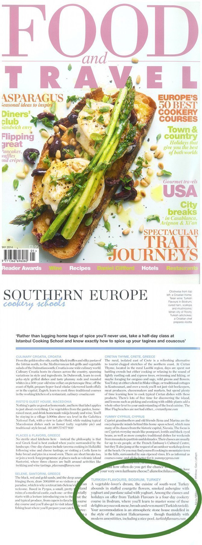 Turkish Flavours on The Web and the Press Food and Travel